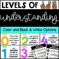 These levels of understanding posters and student desk tags are great visuals for seeing how students are understanding a topic! All posters and desk tags come in color and black and white versions! Classroom Labels, 4th Grade Classroom, Classroom Organization, Classroom Ideas, Classroom Design, Educational Math Games, Math Activities, Desk Tags, Classroom Management Strategies