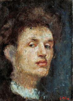 Edvard Munch Otoportre / Self-Portrait 1886. Tuval üzerine yağlıboya. 33 x 24.5 cm. National Gallery, Oslo.