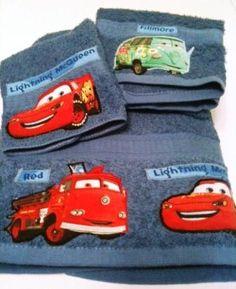 Cars Movie Theme Towel Set By Mytimecreations On Etsy 20 00 Disney Bedroomupstairs Bathroomskid