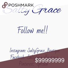 FOLLOW GAME- wanna play? Like follow share... Like the post, follow everyone who has liked it, tag your friends. Increase your followers and gain exposure to your closet!  Follow me on social media also! Salty Grace  Jewelry Earrings
