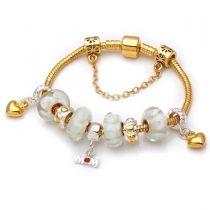 Mothers day gift! White murano glass beads mom pendant dangle charm beads European bracelet