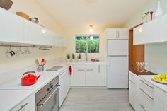 Brighten up kitchen that doesn't get natural light.