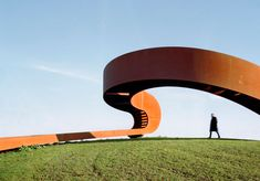 Architecture From Next Architects's The Elastic Perspective, a mobius strip of a staircase outside of Rotterdam. Architecture Design, Contemporary Architecture, Landscape Architecture, Rotterdam Architecture, Design Architect, Urban Landscape, Landscape Design, Architectes Zaha Hadid, Architects Journal