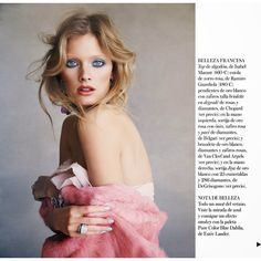 mirame a los ojos constance jablonski by patrick demarchelier for vogue spain july 2014 found on Polyvore