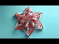 Weihnachtsstern basteln - einfaches Last-Minute-Geschenk (paper star) - YouTube