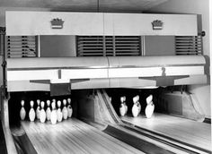 Truman Bowling Alley in the West Wing, circa 1954 (Truman Library)