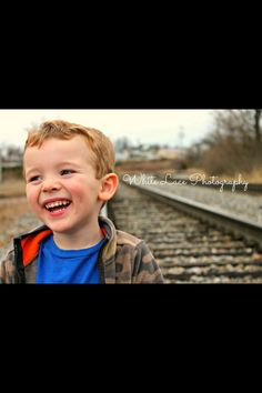 Kid's photography. Railroad photography.