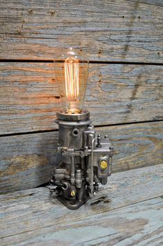 Vintage 1940's Carburetor Desk Lamp