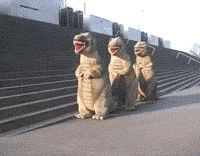 Common get on the floor, Everybody do the dinosaur !!!! funny pics, funny gifs, funny videos, funny memes, funny jokes. LOL Pics app is for iOS, Android, iPhone, iPod, iPad, Tablet