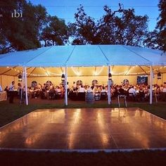 We are inspired by this outdoor wedding featuring a 40x80ft commercial tent and a 20x20ft dance floor... As long as it doesn't rain this is a great use of the space at any large venue! Add some string lighting for a great atmosphere at night. #DMV #tent #wedding #party #reception #districtofcolumbia #eventrentalsdc #dc #events #weddingideas #2016