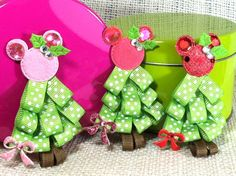 Mouse Christmas Tree Hair Clip Christmas by BreesCozyCreations, $3.95