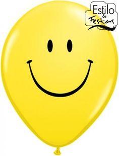Balão Smile Face Sorriso no Rosto Qualatex, balão com sorriso no rosto, bexiga com sorriso, balão alegre, balão amarelo com carinha, balão carinha