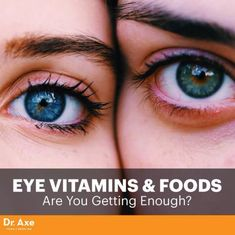 Eye Vitamins & Foods: Are You Getting Enough? Diminishing eyesight might seem like an unavoidable annoyance as you get older, but with the right diet you can hold on to accurate vision for longer than you might think. For example, carrots and leafy green veggies are considered ..l.#eyevitamins