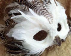 White Owl / Venetian Specialty Custom Animal by MaskedEnchantment