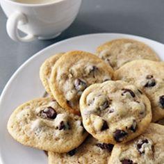 Chewy, gooey, delicious, vegan chocolate chip cookies!
