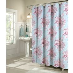 Add a bold touch to your bathroom décor with the Vintage Rose Shower Curtain from m. Inspired by antique wallpaper, this shower curtain is sure to make a statement in your bathroom. Designer Shower Curtains, Vintage Roses, Contemporary Baths, Grey Blue Bathroom, Curtains, Mattress Furniture, Cool Shower Curtains, Rose Shower Curtain, Bed Bath And Beyond