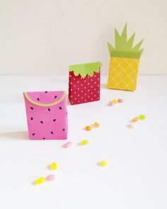 Printable Fruit Gift Bags