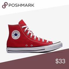 c75d4789e52 Converse Chuck Taylor All Star Hi Top Red Converse Chuck Taylor All Star Hi  Top Red Style   Color - Red Size - Men s 8 - Women s 10 Brand new in box.
