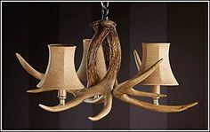 Ozark 3 Light 3 Antler Chandelier >>> You can get additional details at the image link. (Note:Amazon affiliate link)