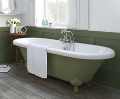 Victorian Freestanding Bath 1700 x scene square medium Lodge Bathroom, Cast Iron Bath, Bathroom Images, Bathroom Ideas, Bath Paint, Roll Top Bath, Villa, Victorian Bathroom, Beautiful Bathrooms