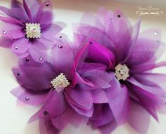 Anais Handmade flowers out of poly organza.. so whimsical!