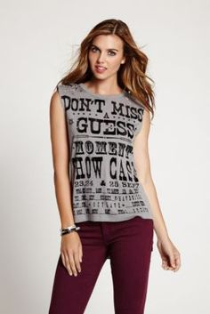 "Sleeveless ""Don't Miss a Moment"" Tee 