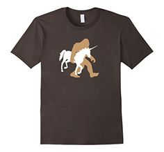 5c550b11 Mens Bigfoot Carrying Unicorn Shirt, Funny Cute Sasquatch... Lazy Humor,  Four