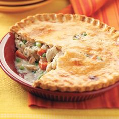 Turkey Pot Pie - good way to use up left over Turkey.