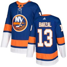 Men s Adidas New York Islanders  13 Mathew Barzal Royal Blue Home Authentic  Stitched NHL Jersey ef54465af