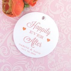 Happily ever after tags - I'm just in love with the color combination!