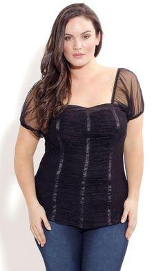 Plus Size Lace Back Corset image