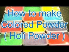 How to make Colored powder : Holi powder : Throwing powder