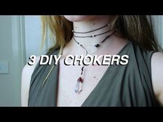 EASY DIY |CHOKER| - YouTube