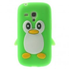 Galaxy Trend vihreä pingviini silikonisuojus.