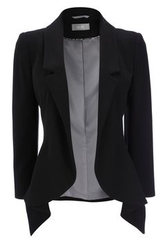 Beautiful Black Jacket- fashionable blazer. Dress it up!                                                                                                                                                      More