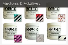 Video on what each does ... Mediums and Additives