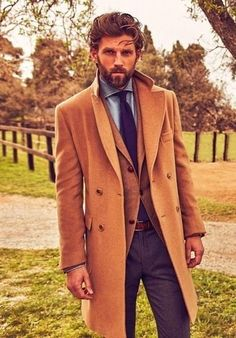 How to Wear a Camel Overcoat (141 looks) | Men's Fashion