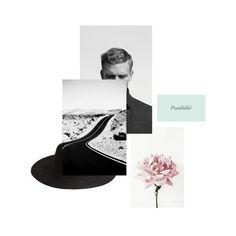 collage, design ,layout, black, white, green, pink,