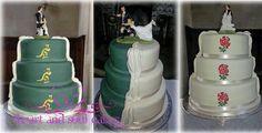 Rugby wedding cake, fab!