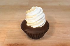 PMS Peanut Butter filling, marshmallow meringue top, chocolate cake, dark chocolate dip