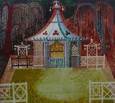 Chinoiserie Summer House - Ed Kluz Tracy Porter, Yurts, Nightingale, Historical Architecture, Caravans, Best Artist, Chinoiserie, Great Artists, Collages