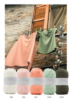Laundry - Mooie kleurencombinatie van het prachtige garen van ByClaire 2.  Het garen is een mix van katoen en polyacryl. Hierdoor is het zacht, warm en super mooi! Nr. 2  is ideaal voor haakprojecten als grote knuffels, winterkleding en woonaccessoires.