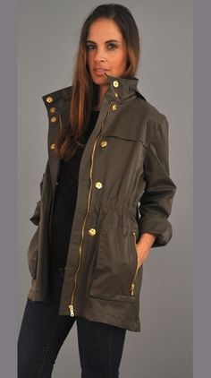 CIAO MILANO TESS ANORAK JACKET IN LEAF | OUTERWEAR