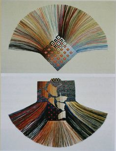 Fibre artist Diane Itter emerged in the 1960s creating bright-coloured fine threaded pieces. Each work took her about one to one-half weeks of 8 to 10 hour workdays.