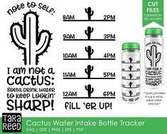 Cactus Water Intake Tracker / Cactus svg / Water Bottle Tracker / Water Tracker svg / Water Intake s Water Intake Tracker, Water Bottle Tracker, Circuit Projects, Vinyl Projects, Vinyl Crafts, Garrafa Diy, Cactus Water, Identity, Cricut Craft Room