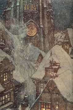 """snow queen"" by Edmund Dulac (1882-1953, France)"