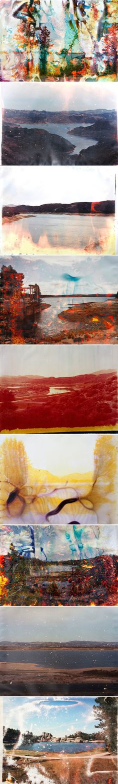Lake & Reservoir by Mathew Brandt I love the layers over the top of the photos each different theme is very interesting. Derelict Places, Light Leak, Sgraffito, Gcse Art, Print Patterns, Cool Art, Abstract Art, Artsy, Decay