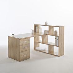 Secretária reversível com estante, 2 cores, Fénon La Redoute Interieurs