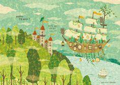 HAPPY TRAVEL!By Megumi Inoue.http://sorahana.ciao.jp/