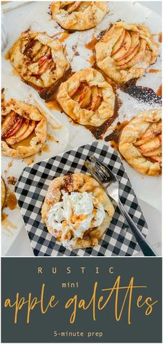Rustic Mini Apple Galettes. It's apple season! Celebrate by making these easy rustic apple hand pies. They are perfect for fall picnics and family desserts! Easy Apple Muffins, Mini Pie Crust, Apple Galette, Fall Picnic, Lasagne Recipes, Galette Recipe, Mini Apple, Sweet Pastries, Sweet Potato Casserole